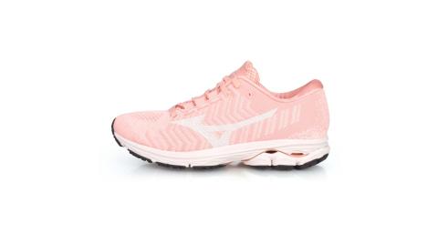 MIZUNO WIDE RIDER WAVEKNIT 3 女慢跑鞋-美津濃 粉橘白@J1GD192915@