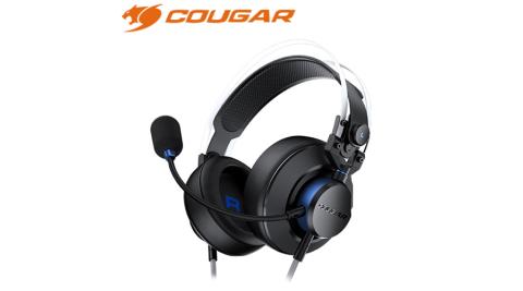 COUGAR 美洲獅 VM410 PS 耳罩式電競耳機 藍