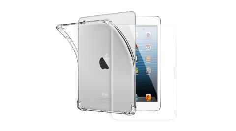 CITY for iPad mini 1/2/3 通用平板5D 4角軍規防摔殼+專用玻璃貼組合