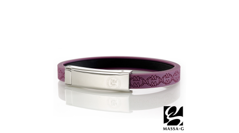 (下架)MASSA-G Color For【W】ing 專色之翼鍺鈦手環-丁香紫