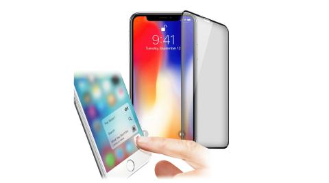 Xmart for iPhone XR 6.1吋 防指紋0.33mm霧面滿版玻璃保護貼-黑色