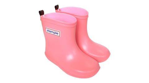 Stample日本製兒童雨鞋(粉紅馬卡龍)