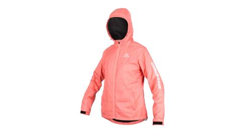 KAPPA 女單層刷毛裡連帽外套-防潑水 運動 慢跑 粉橘白@3113UGW-XKD@