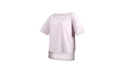 NEWBALANCE 女短袖T恤-NB 短T 慢跑 路跑 淺紫@WT91503LCS@