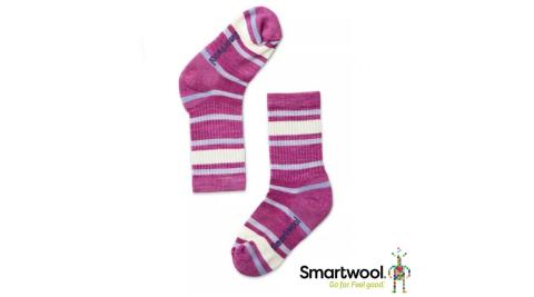 【SmartWool 智慧羊毛】SW001212A22 孩童健行健行輕量避震條文中長襪 兒童襪 登山襪 粉霧紫