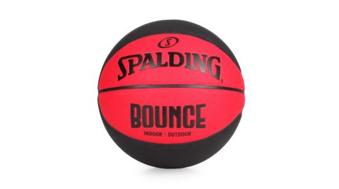 SPALDING BOUNCE PU籃球 #7-附球針 7號球 斯伯丁 紅黑@SPB91002@