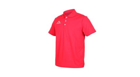 KAPPA 男短袖POLO衫-台灣製 高爾夫 吸濕排汗 慢跑 運動 上衣 網球 羽球 紅白@311821W-D18@