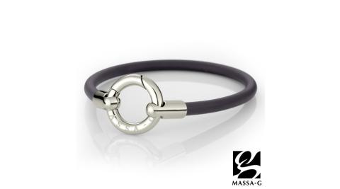 DECO X MASSA-G Glamour魅力經典鍺鈦能量腳環-銀