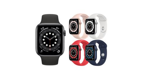 (預購)Apple Watch Series 6 (GPS) 44mm鋁金屬錶殼搭配運動型錶帶