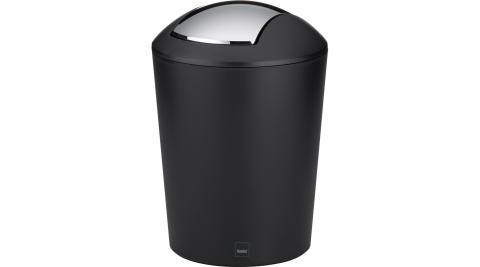 《KELA》搖擺蓋垃圾桶(黑1.7L)