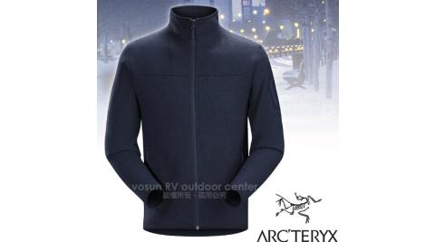 【加拿大 ARC'TERYX 始祖鳥】男經典款 Covert Cardigan 羽量級類羊毛透氣保暖刷毛外套/15375 翠鳥藍 D