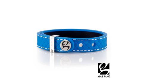 MASSA-G X DECO ONLY U唯你鍺鈦手環-品牌菱格紋(藍)
