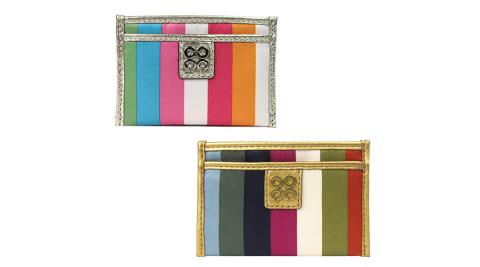COACH JULIA 新彩色緞布名片卡夾(2色)