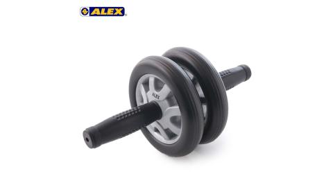 ALEX 雙輪式滾輪輪直徑14CM-健腹輪 健美輪 健身 肌肉訓練 依賣場@B-21@