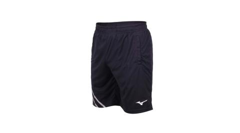 MIZUNO 男羽球短褲-針織 台灣製 吸濕排汗 運動 訓練 慢跑 美津濃 丈青白@72TB0A1614@