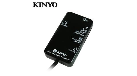 【KINYO 耐嘉】KCR-369 多合一晶片讀卡機(1.2米)