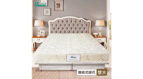 IHouse-鳥羽 日式護脊蓆面硬式彈簧床墊 雙大6尺