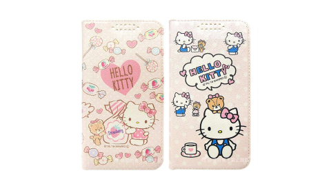 三麗鷗授權 Hello Kitty貓 紅米 Note 7 粉嫩系列彩繪磁力皮套