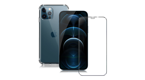 CITYforiPhone1212Pro61吋軍規5D防摔手機殼滿版玻璃組合