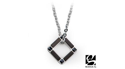 MASSA-G 【迴圈】金屬鍺錠白鋼項鍊