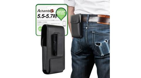 Achamber For Samsung Galaxy A6+/ A8+ 個性型男旋轉直立腰掛皮套
