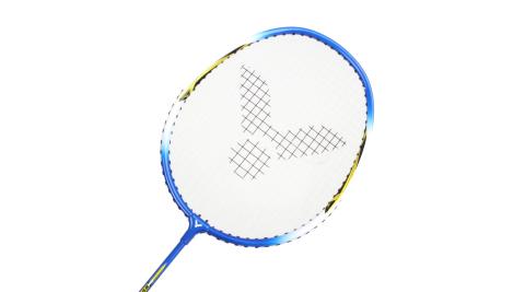VICTOR 亮劍穿線拍-羽球 羽毛球拍 訓練 勝利 藍黃@BRS-1733@
