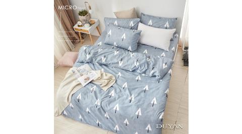 《DUYAN 竹漾》天絲絨雙人加大床包被套四件組-白樺秘境