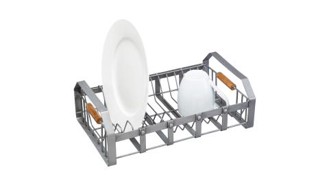 《KitchenCraft》工業風碗盤瀝水架(40cm)