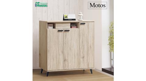 IHouse-莫托斯 橡木4尺鞋櫃