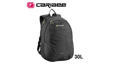 【Caribee 澳洲】RECOIL背包 30L 黑色 休閒包 自助旅行 後背包 電腦包 CB-6070