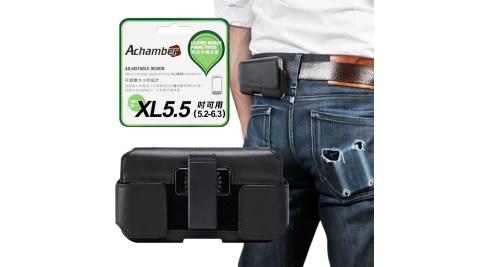第二代Achamber for Samsung Galaxy A6+/A8+ 真皮旋轉腰掛橫式皮套