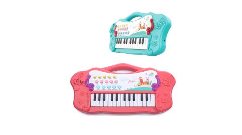 【孩子國】歡樂炫彩音樂手提琴 /多功能電子琴(雙電源模式,可接行動電源)