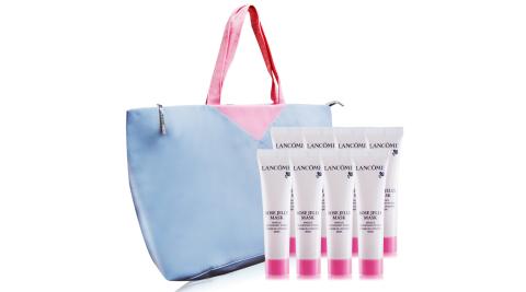 LANCOME 蘭蔻 溫和保濕玫瑰面膜(15ml)X8送法式旅行袋