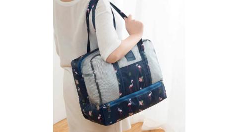 韓式乾濕分離包收納袋手提包(2入組)