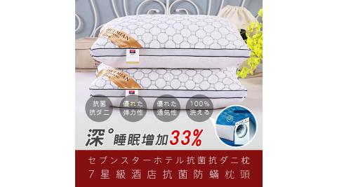 本月特談【在地人】七星級店抗菌防蹣枕頭 2入( 48cmx74cm/個)
