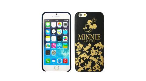 迪士尼正版授權 經典剪影 iPhone 6/6s plus 5.5吋 精緻燙金皮革手機殼(米妮)