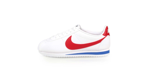NIKE WMNS CLASSIC CORTEZ LEATHER 女休閒鞋-慢跑 白紅藍@807471103@