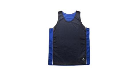 FIRESTAR 男運動籃球背心-雙面穿 黑寶藍@B3707-92@