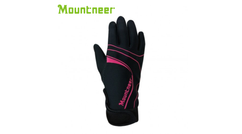 【Mountneer 山林】抗UV印花觸控手套 桃紅 11G03-33 防曬手套 機車手套