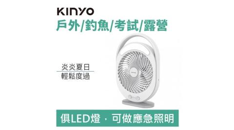 【露營超好用】KINYO UF-890 充插兩用6吋 USB DC循環扇-風罩易拆洗