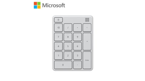 【Microsoft 微軟】藍牙數字鍵盤-月光灰