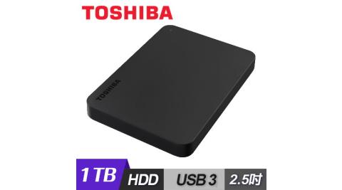 【Toshiba 東芝】黑靚潮III 1TB USB3.0 2.5吋行動硬碟 黑