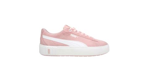 PUMA SMASH PLATFORM V2 SD 女休閒運動鞋-厚底鞋 板鞋 粉紅白@37303705@