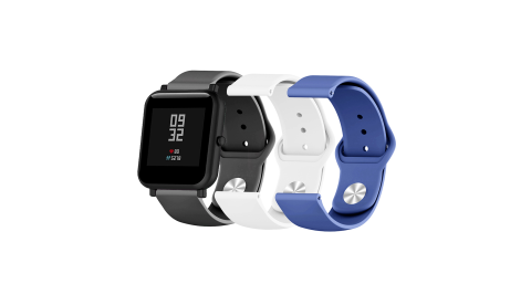 AMAZFIT 華米 米動手錶 青春版 純色矽膠運動替換手環錶帶-20mm