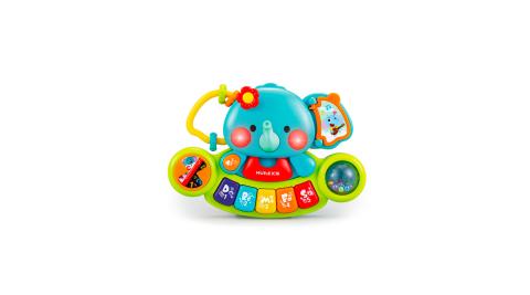 【HOLA】匯樂小象多功能聲光益智遊戲音樂琴 /電子琴