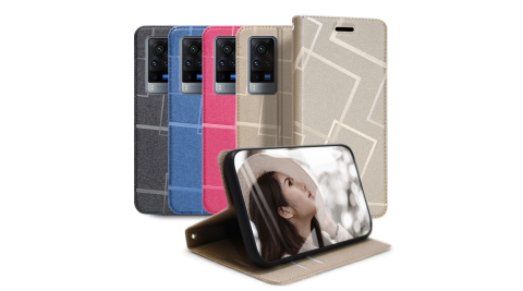 GENTEN for VIVO X60 Pro 極簡立方磁力手機皮套