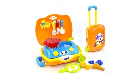 【HOLA】匯樂小廚師手提箱玩具/廚房家家酒玩具