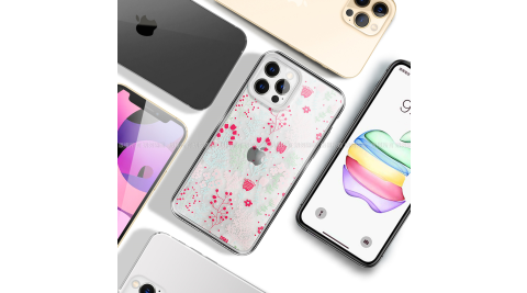MOOTUN for iPhone 12 Pro Max 6.7 防護晶透保護殼- 繽紛小花草