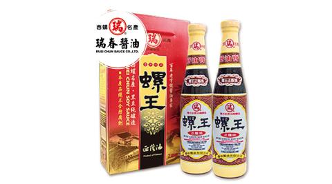 《瑞春》螺王正蔭油(醬油膏)精裝(500g±10g/瓶,兩瓶/組,共六組12瓶)