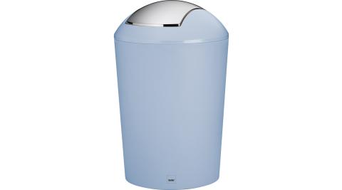 《KELA》搖擺蓋垃圾桶(藍5L)